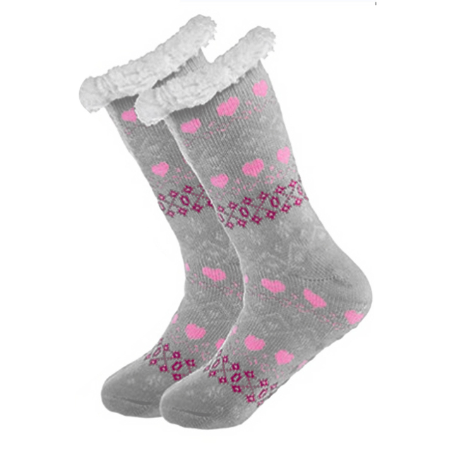 c84fefaff34a8 US $4.74 5% OFF|Aliexpress.com : Buy Winter Fleece Warm Socks Women Men  Animal Cartoon Printed Funny Socks Cute Girls Ladies Soft Fluffy Sleep Home  ...