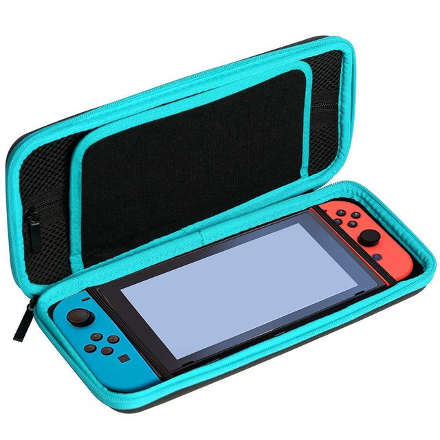 Maleta para Nintendo Switch-Portátil Saco de Armazenamento De Viagem De Proteção Casca Dura Anti Choque com 10 Jogo de Slots de Cartão e EU