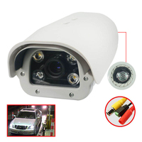 CWH 2MP AHD LPR Camera 1080P License Plate Recording ANPR Camera 5 50mm Lens Max 120KM/H Speed for Highway Road Park CA1DH5