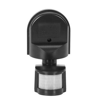 Interruptor de Sensor de movimiento Pir para exteriores Ac110V ~ 240V lámpara de luz de pared 180 grados Sensor Detector Pir interruptor de Sensor de movimiento Led