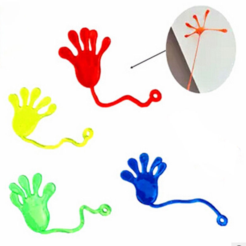 New Joyful Funny Baby Girls Boys Mini Sticky Hands Elastic Vending Birthday Party Favors Toy Hot Sale Random Color