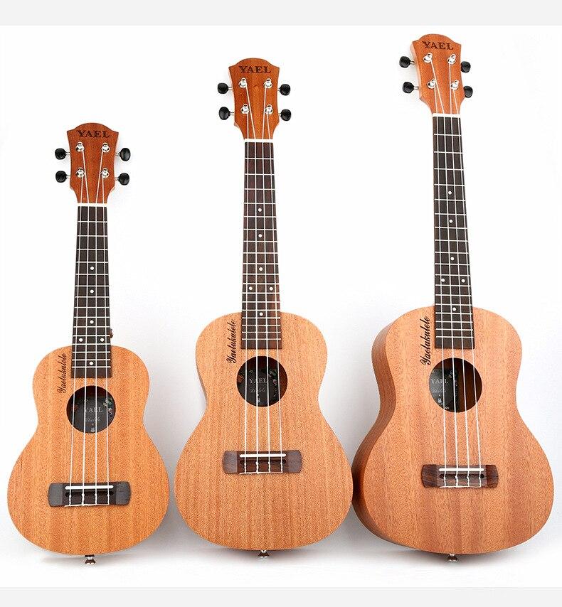 Haute Qualité 23 pouce Ukulele Main Palissandre Touche 4 Nylon Cordes Guitare pour Débutants Musical Instruments