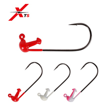 XTS One Lure Lead Head 3g Artificial Casting Jigging Lures With Steel Single Hook 3 Pieces/Bag Colors Available Model 3305