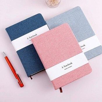 bd0ec0d9fbbad A5 cuaderno de la cubierta de tela Vintage hecho a mano Tapa dura libro  diario de bala diario de papel de libro semanal planificador 016013