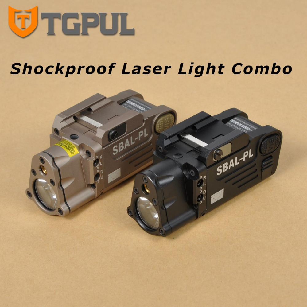 TGPUL SBAL PL Tactical Laser Light Combo Military Weapon Light White Illuminator Red Aiming Laser Flashlight