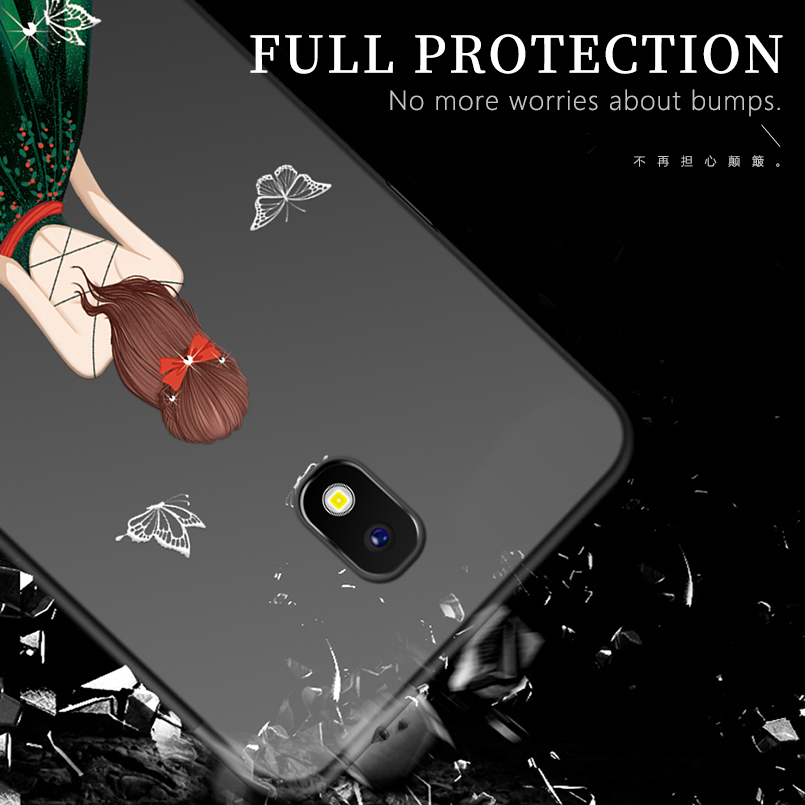 Luxury Case For Samsung Galaxy J2 2017 Silicone Dress Patterned Case Cover For Samsung Galaxy J8 2018 Note 8 9 Funda Coque in Fitted Cases from Cellphones Telecommunications