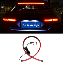 90cm Super Bright Flexible led Warning Light Car Additional Brake Lights High Mount Stop Rear Tail  Signal lamp car accessories auto led additional brake light super bright car red rear emergency brake warning light 24 and 14 leds universal safe lamp