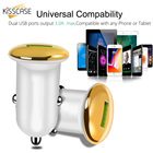 KISSCASE Car USB Fast Charger 3.0 Mobile Phone Charger 2 Ports USB Fast Car Charger For iPhone 8 7 Convenience Car Charger