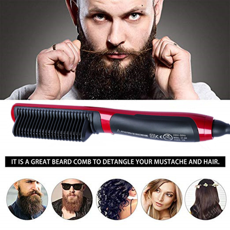 Men Quick Beard Straightener Styler Curler Comb And Beard Curler Permed Clip Styling Tools
