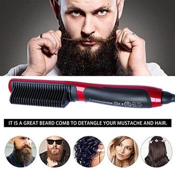 Men Quick Beard Straightener Styler Curler Comb And Beard Curler Permed Clip Styling Tools