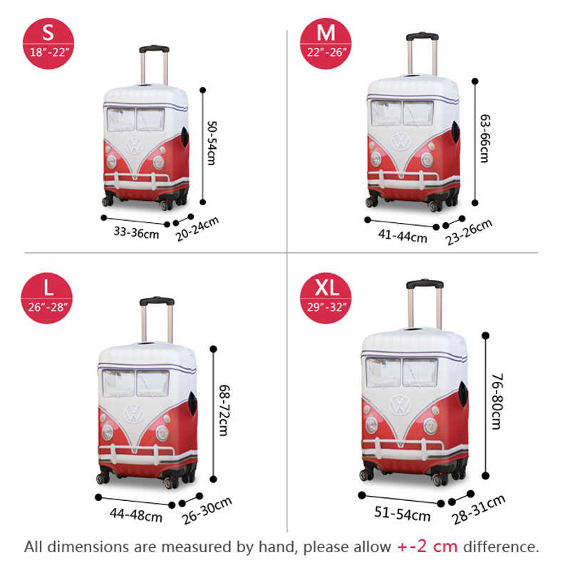 Fashion Cartoon Girls Print Waterproof Suitcase Covers High Quality S M L XL Size Travel Luggage Set Protector Dust Rain Bag