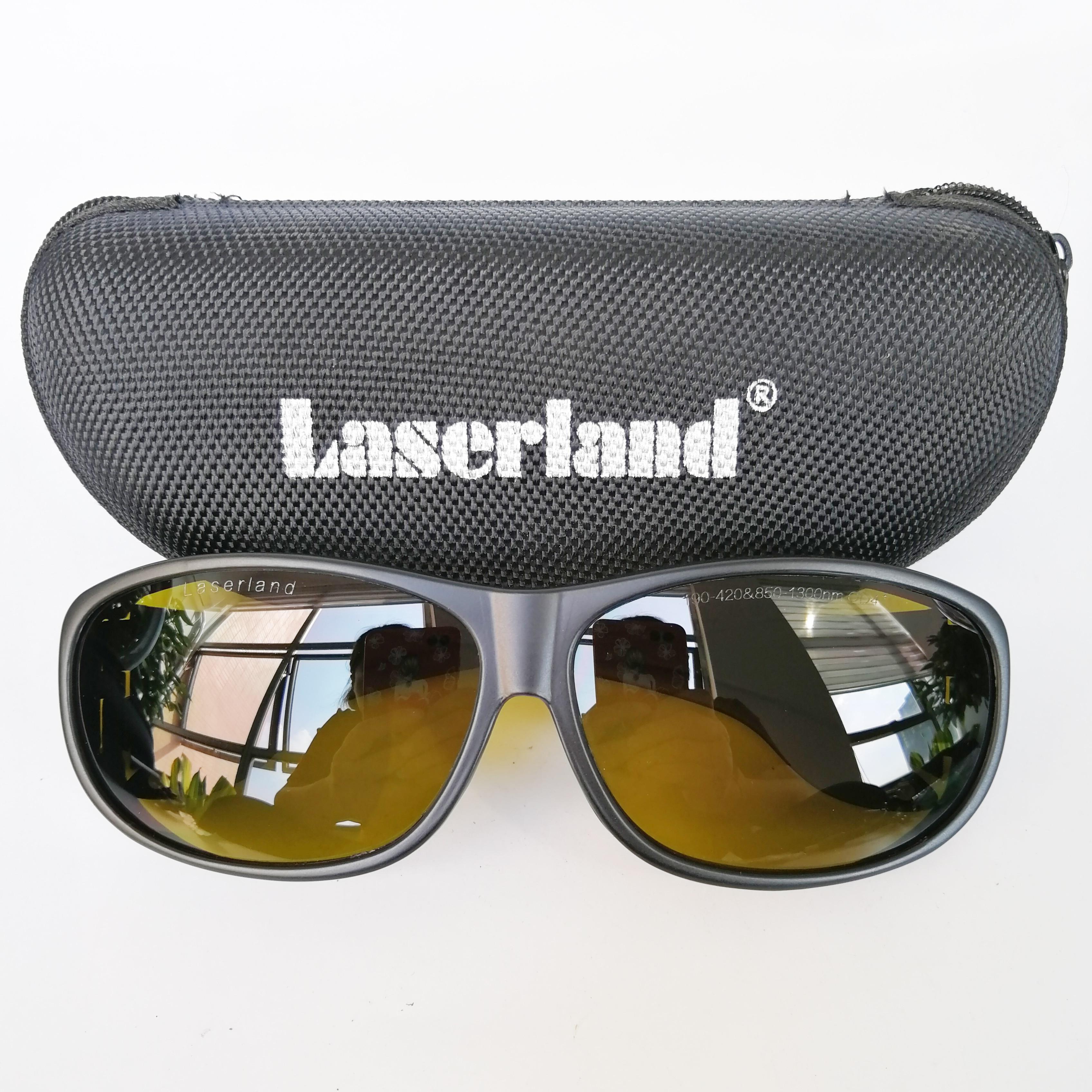 850nm-980nm-1064nm OD4 + Nd: YAG láser de fibra infrarrojo IR gafas protectoras gafas de seguridad CE Caliente táctica electrónica orejera para disparar al aire libre deportes Anti-ruido auriculares de sonido de amplificación de audiencia de auriculares