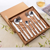 Stainless Steel Tableware Flatware Suit Knife And Fork Spoon Gift Tableware Bank Gift High Archives Steak Knife Spoon