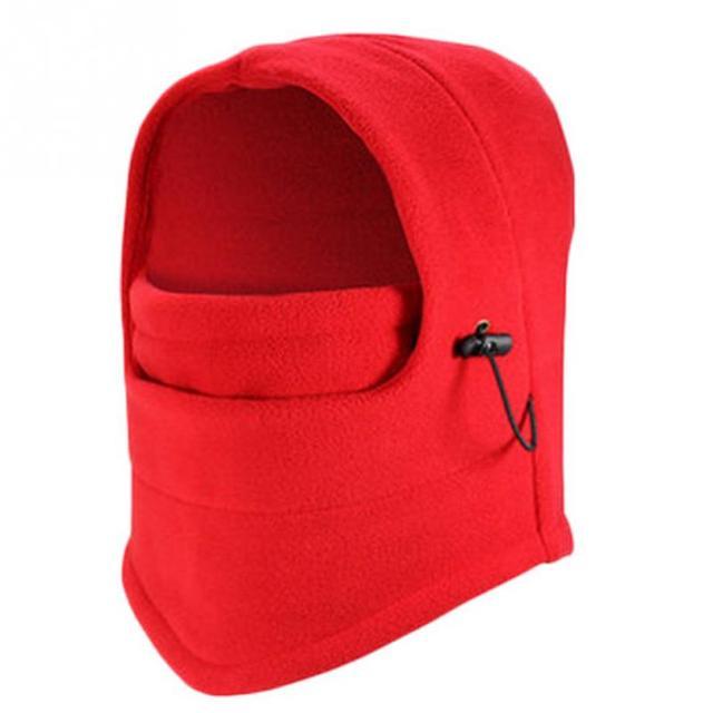 Outdoor Sports Helmet Winter Windproof Fleece Full Face Neck Guard Masks Headgear Hat Riding Hiking Cycling Masks Balaclava Mask