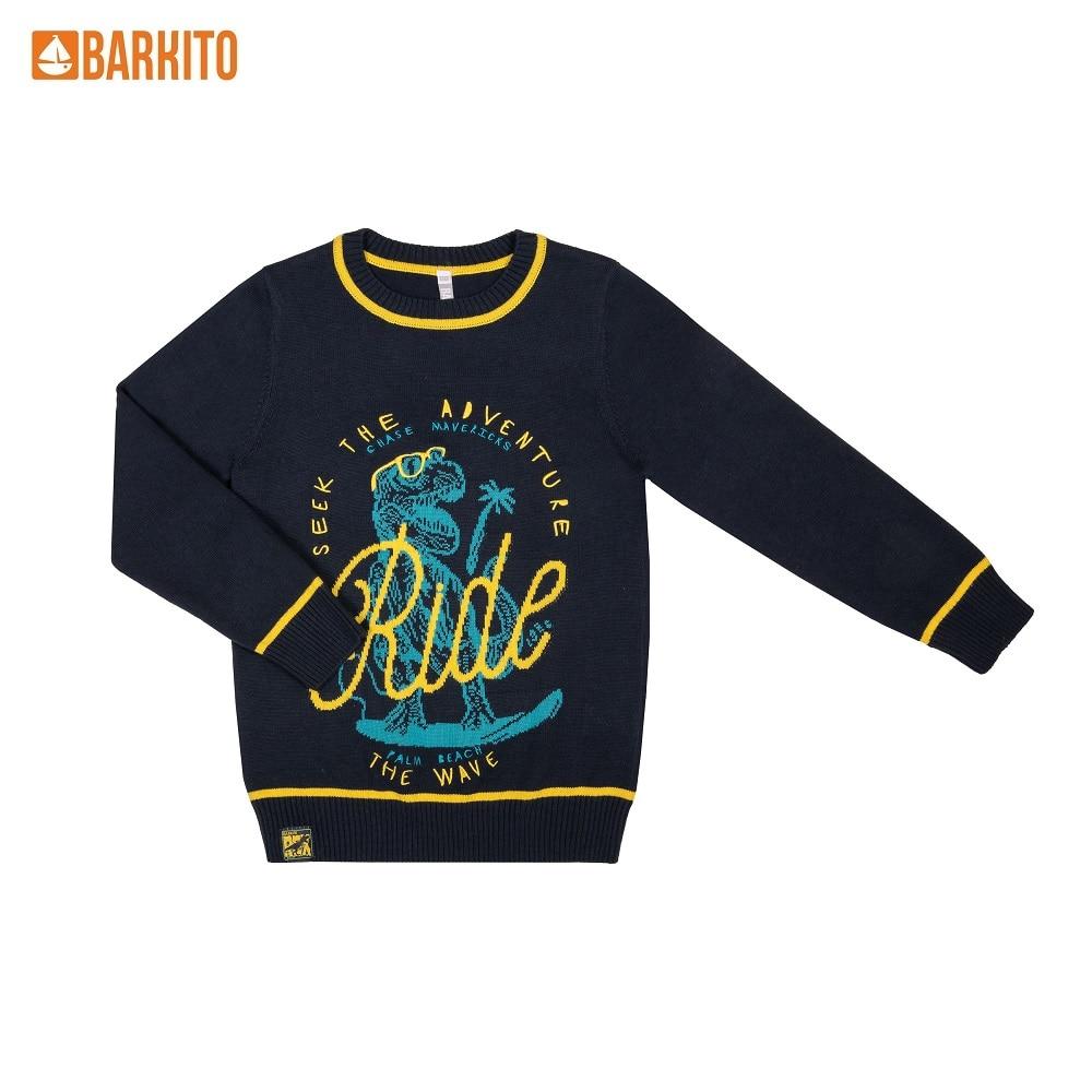 Sweaters Barkito 340847 children clothing Cotton S19B4004K Green Boys Casual цены онлайн