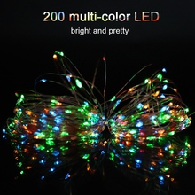 20m Solar Powered 200LED Multi-Color Wire String Home Garden Fairy Light Outdoor Waterproof Decor DIY  Lamp led string lights