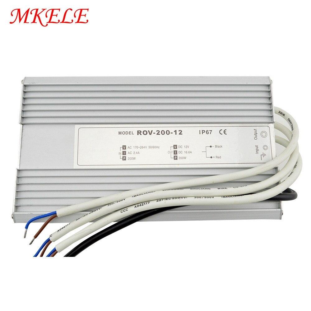 200W LED conducteur étanche alimentation étanche IP67 LED pilote 12V 15V 24V 36V