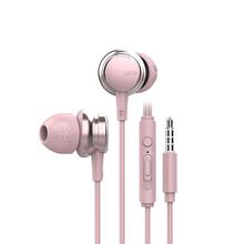 Portable Earphones Subwoofer E sports Game Wired Noise Reduction Dynamic Subwoofer Music Metal Earbuds With Mic Hands free Calls