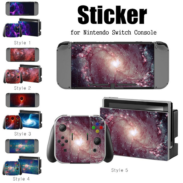 1 Set Vinyl Protector Skin Sticker For Switch NS Console + Controller Skin Sticker PVC Digital Print Game Skin Sticker