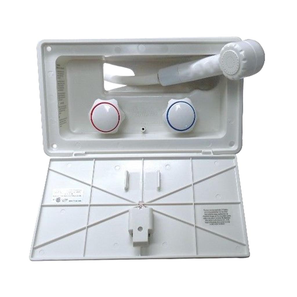 26 7 14 9 7 6cm White RV Exterior Shower Box Kit With Anti siphon Vacuum