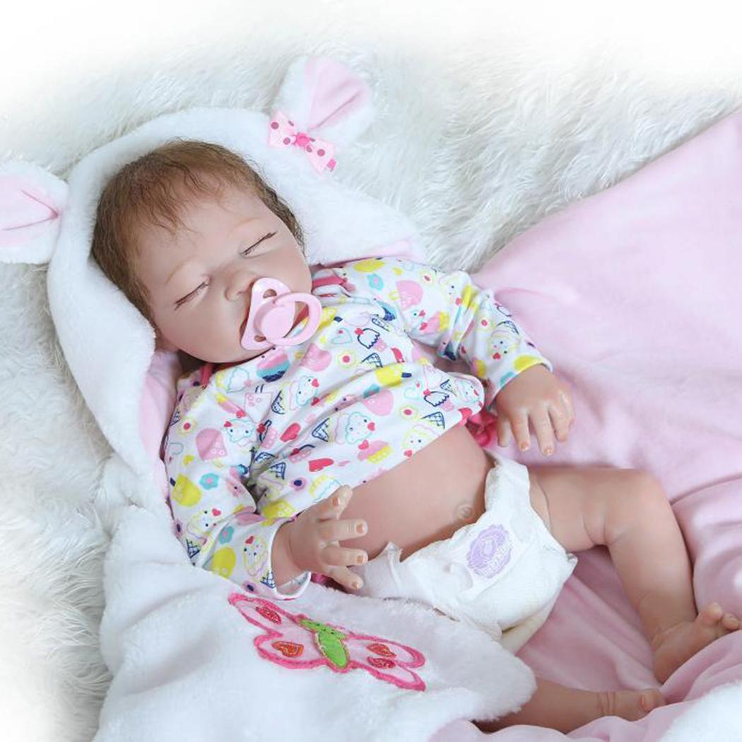 Kids Soft Silicone Realistic With Clothes Collectibles, Gift, Playmate Unisex 2-4Years Reborn Baby Doll PinkKids Soft Silicone Realistic With Clothes Collectibles, Gift, Playmate Unisex 2-4Years Reborn Baby Doll Pink