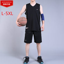 New 2019 Brand Tracksuit Summer Big Size L-5XL Men Sportswear Sets Fleece T-shirt+shorts Sporting Suit Malechandal Hombre Sport(China)