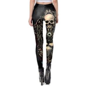 Image 3 - [Você é meu secreto] 2019 caveira novo design punk mulheres legging estilo gótico leão retro vintage steampunk leggins calça de tornozelo