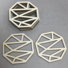 Набор 50 геометрических лазерных деревянных современных подставки