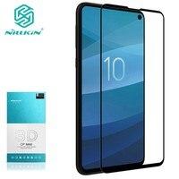 Protetor de Tela De Vidro temperado Para Samsung Galaxy S10e NILLKIN Surpreendente 3D CP + MAX 9 H Nano Anti-Explosão vidro De proteção