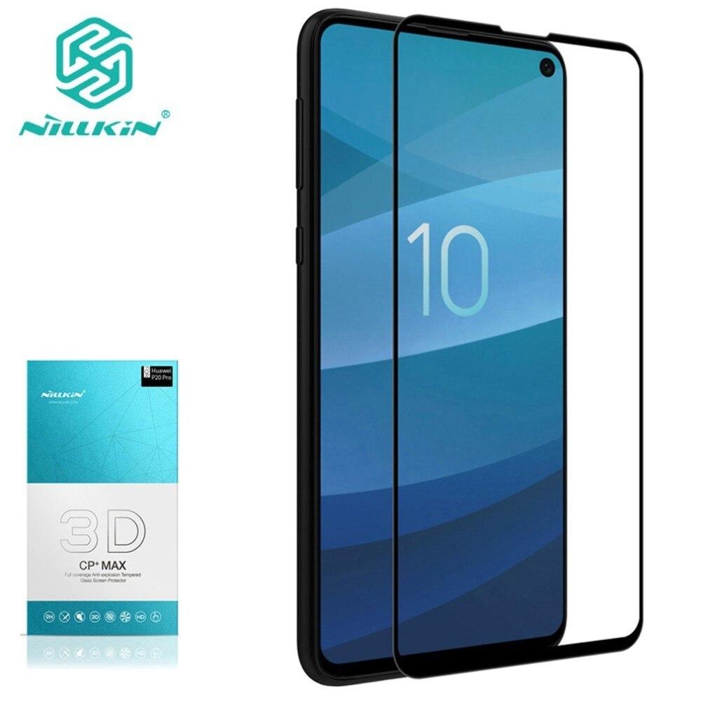 Verre trempé protecteur d'écran pour Samsung Galaxy S10e NILLKIN incroyable 3D CP + MAX Nano Anti-Explosion 9H verre de protection