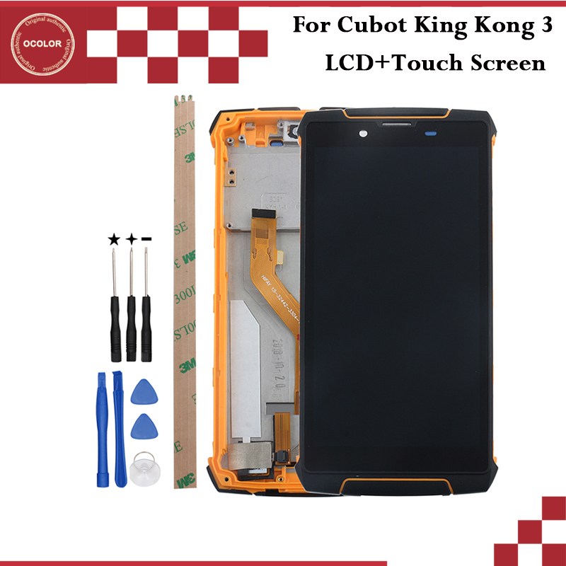ocolor For Cubot King Kong 3 LCD Display and Touch Screen With Frame 5 5 Phone