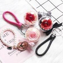 Вечный цветок висячие сушеные цветы свежие розы DIY аксессуары День рождения подарок на день Святого Валентина Декор Кристалл трава букет