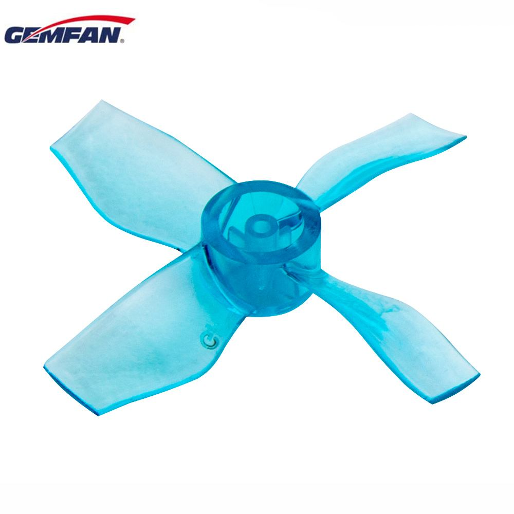 4 / 8 Pairs Gemfan <font><b>1220</b></font> 1.2x2.0x4 31mm 0.8mm Hole 4-blade Propeller for 0703-1103 RC Drone FPV Racing Brushless <font><b>Motor</b></font> image