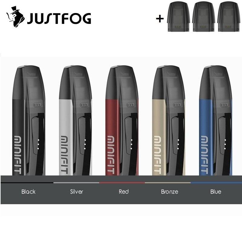 Original Justfog Minifit Kit 370 mah système de dosette Cigarettes électroniques tout en un Kit de stylo Vape 1.5 ml cartouche de dosette VS Justfog C601