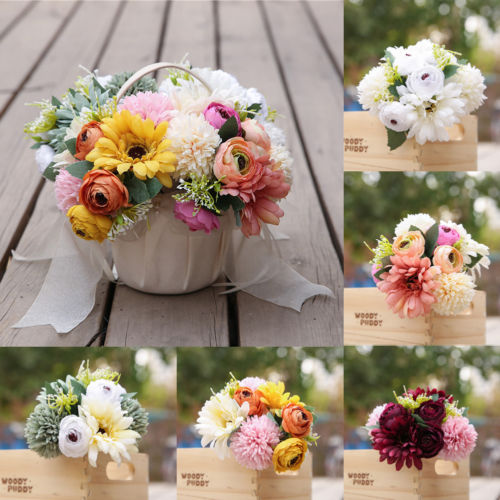 1 Bouquet Artificial Fake Peony Silk Flower Bridal Hydrangea Wedding Party Hot New Wedding Decoration Artificial Flower
