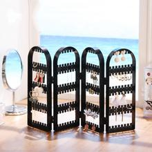 Crystal Jewelry Hanger Foldable Women Earrings Organizer Holder Multi-layer Display Hanging Earring Ring Stand Showing Shelf