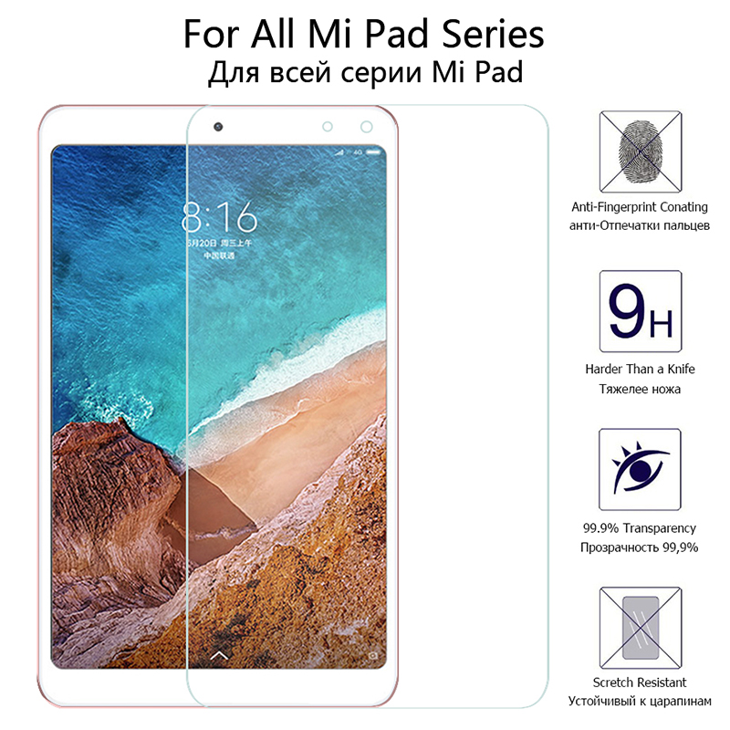 Tempered-Glass-Film Xiaomi 4-Plus Glass Tablet Mi-Pad 4-Film 9H For 3 2-1 Front