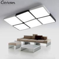 Черный белый светодио дный Квадратный светодиодный светильник для библиотеки кабинет Работа свет домашний офис освещение светодио дный ко