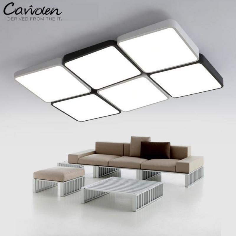 Lumières de LED carrées blanches noires pour la bibliothèque étude salle travail lumière bureau à domicile éclairage Commercial LED plafonniers LED Luminaria