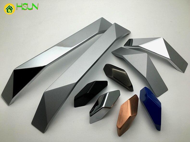 Neu Gestaltete Zink Loch zu loch 32mm zu 192mm Legierung Schrank Griff Schwarz Silber Antike messing Schublade knopf