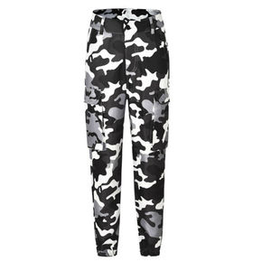 Image 4 - Womens Camo Cargo Trousers Casual Pants Military Army Combat Camouflage Jeans Fashion High Waist Long Pants Warm Spring Trousers