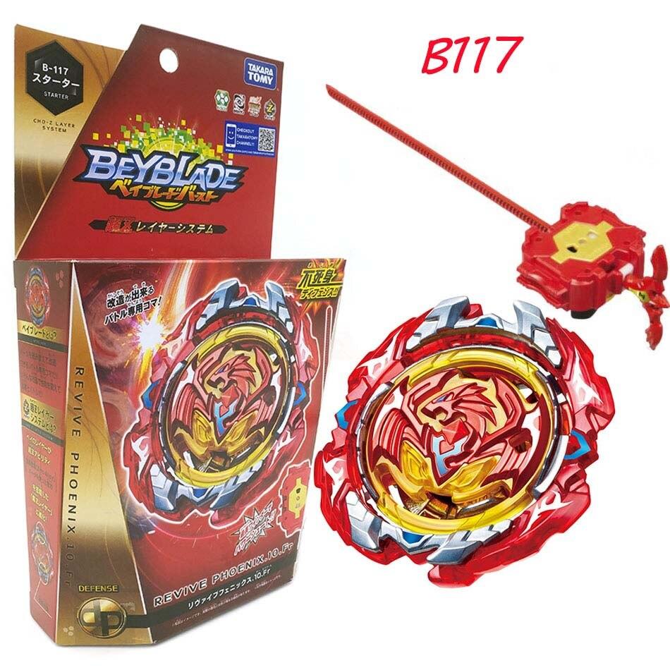 2018 Original TOMY Beyblade Burst B-117 REVIVE PHOENIX.10.Fr STARTER bey blade bayblade burst Top Spinner Toy for Children tomy beyblade burst b 100 starter spriggan requiem 0 zt