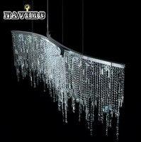 Led итальянский роскошные люстры с кристаллами огни модель номер после современный простой Nordic спальня ресторан кристалл лампы
