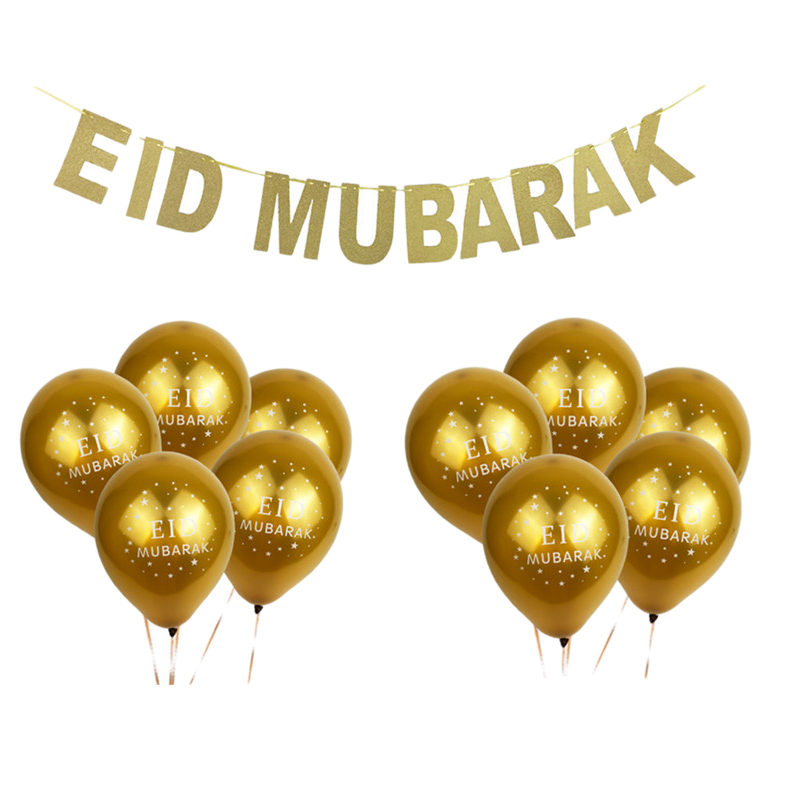 Balloons Ramadan Kareem Decoration Eid Mubarak Banner And Party Favor Al-Fitr Decor