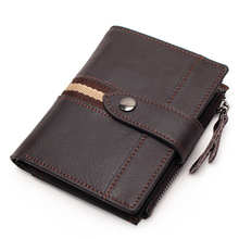 100% Genuine Leather Wallet Men Cowhide Top Quality Real Leather Coin Pocket Men Wallets Purse Multifunction Male Short Wallet недорго, оригинальная цена