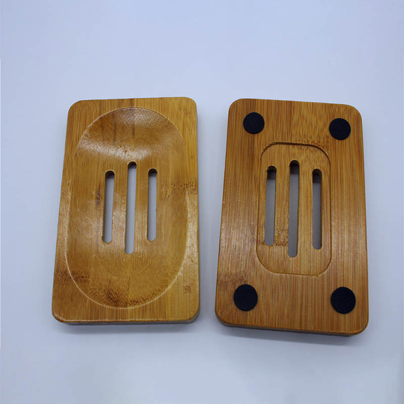Mould Proof Soap Dish Bathroom Supplies Soap Container Tray Natural Wooden Portable Draining Holder Soap Box