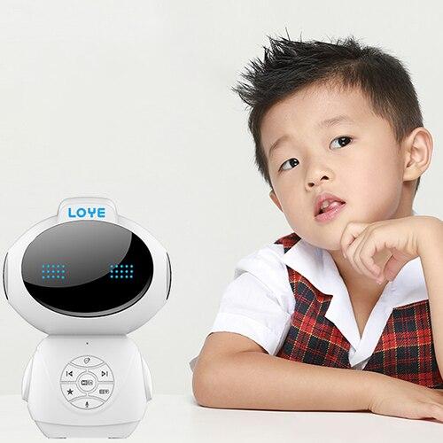 LY-L4 éducation précoce Robot Intelligent Dialogue vocal carte mémoire évolutive apprentissage Machine Robot jouet pour 0-14 ans enfants