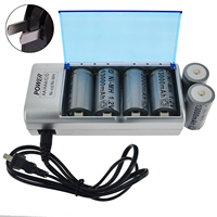 6x C/D AA Size Ni MH 1.2V D size 13000mAh Rechargeable Battery with Universal Charger