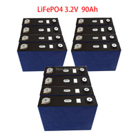 12PCS/Lot 3.2V 90Ah LiFePO4 Prismatic Cell LifeCycles 3000 Times For 36V Energy Storage Battery Pack