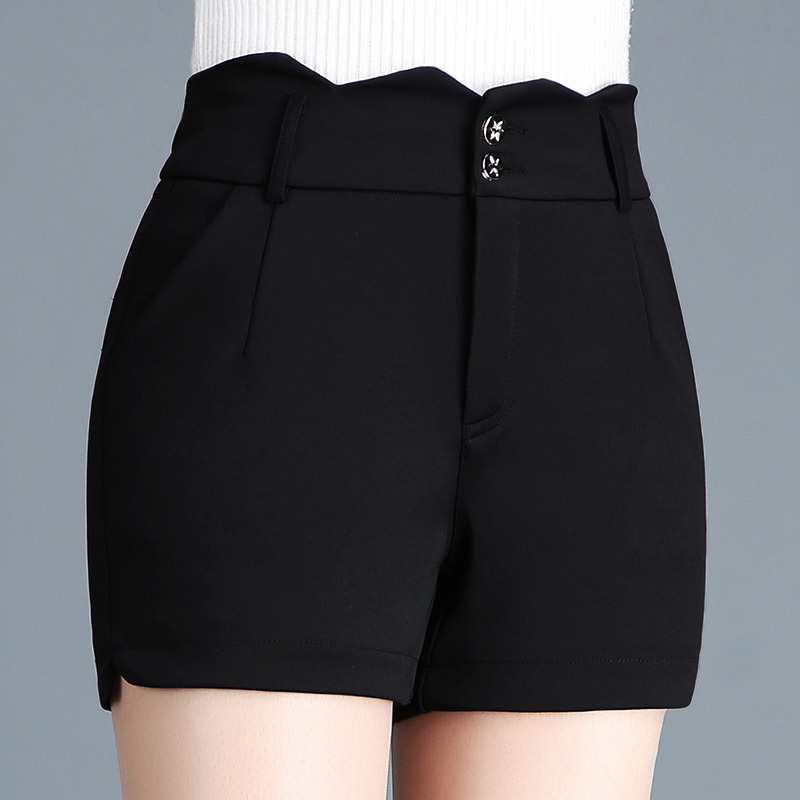 2019 Women New Style Fashion Women Sexy Summer Casual Black Shorts High Waist Fitness Shorts Plus Size in Shorts from Women 39 s Clothing